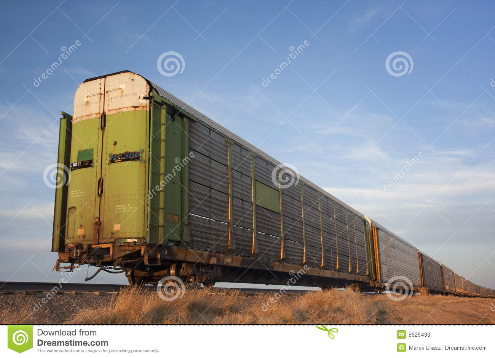 Train Of Rail Cars For Livestock Transportation Stock Photo Image 8625430