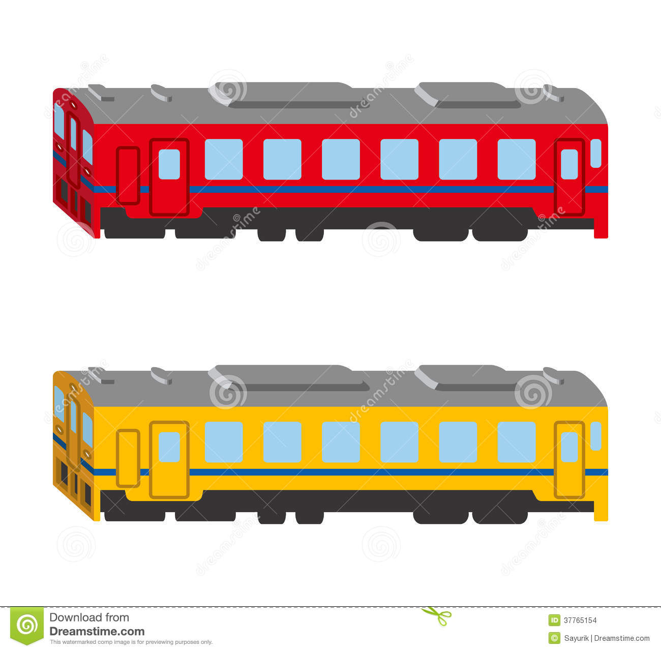 Train Set, Isolated, Side View Stock Images - Image: 37765154