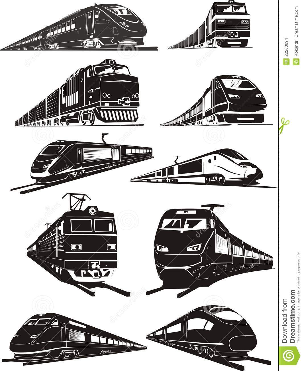 Train Silhouettes Stock Images - Image: 22263694