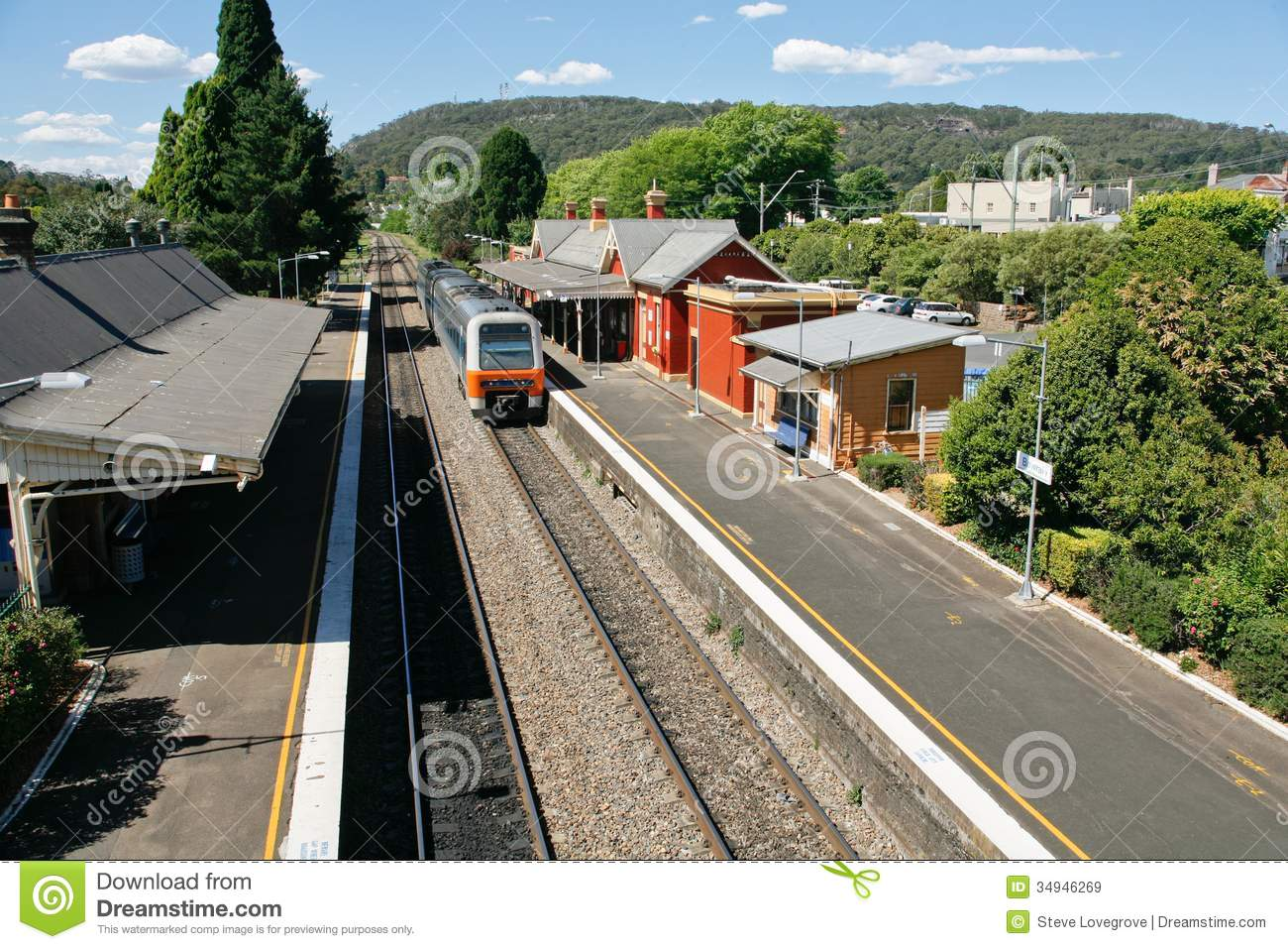Train Station Stock Image Image Of Transportation Train