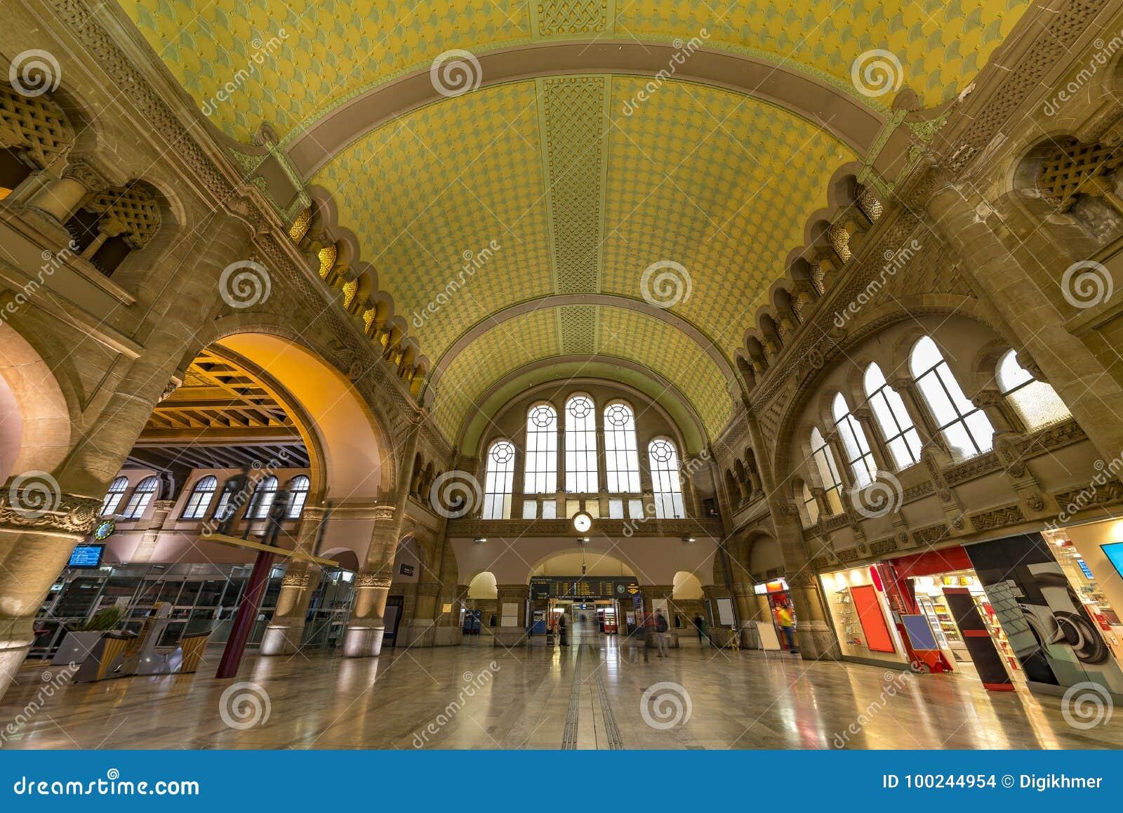 Train station entrance hall