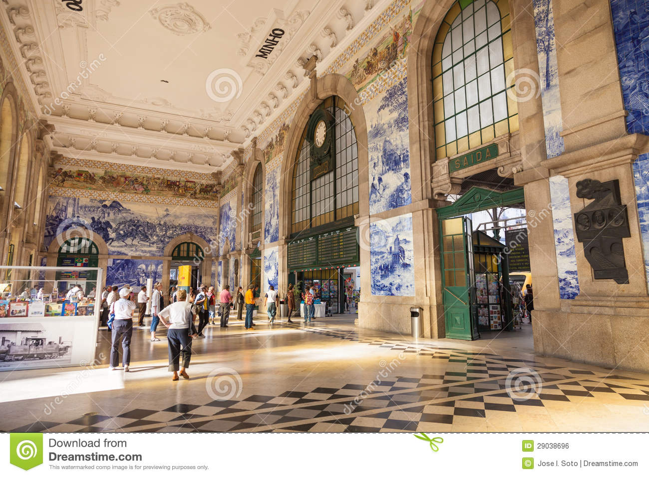 Train Station Hall Of Porto Portugal Editorial Photo