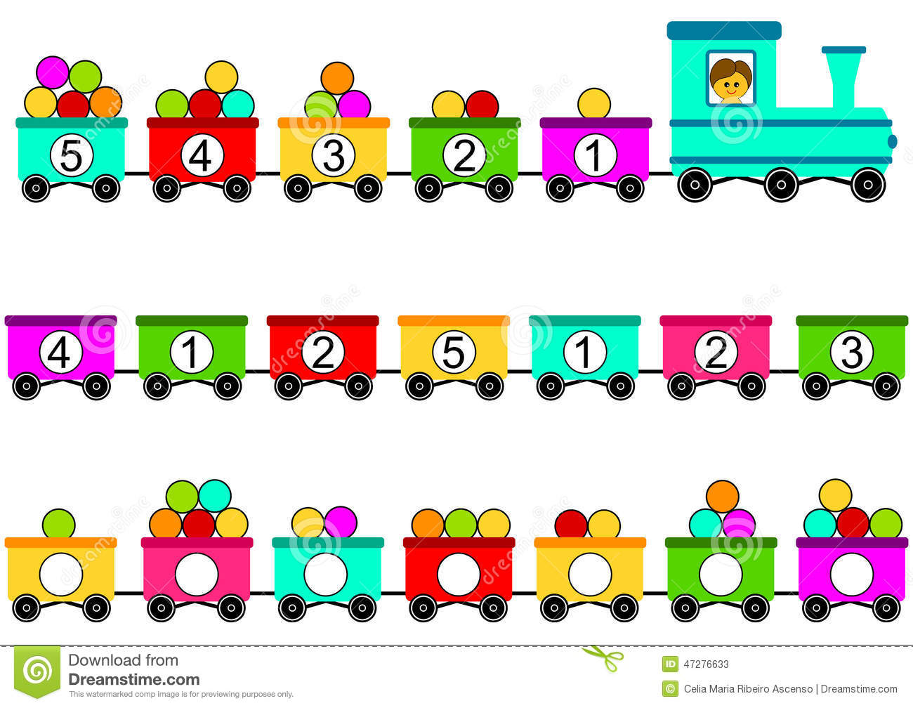 train toy math counting game stock illustration image. Black Bedroom Furniture Sets. Home Design Ideas