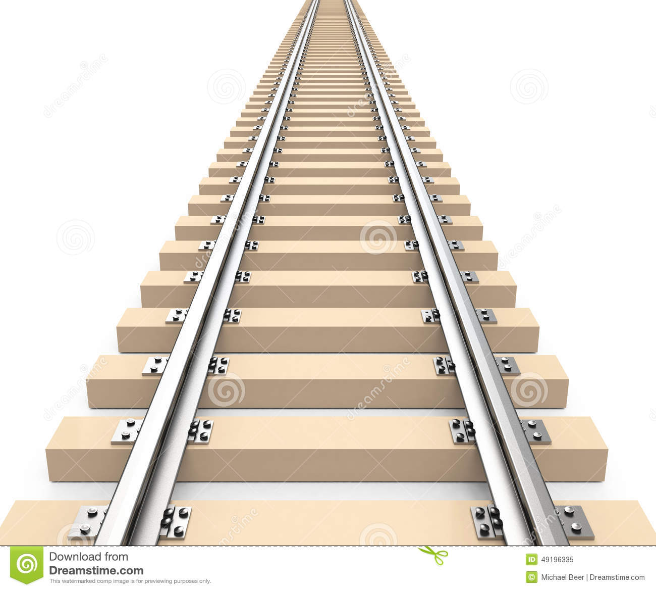 the train track stock illustration illustration of railing 49196335