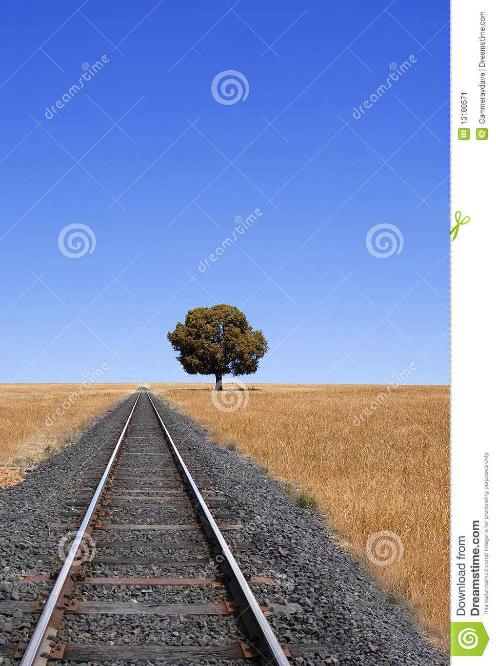 Download Train Tracks And Horizon stock image. Image of rail, midwest - 13180571