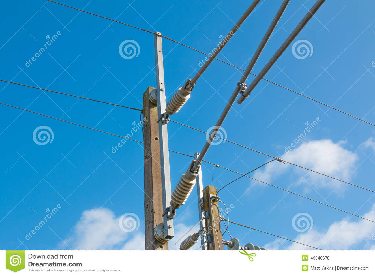 train tracks power line and power pole stock photo image Telephone Clip Art Man On a Telaphone Pole