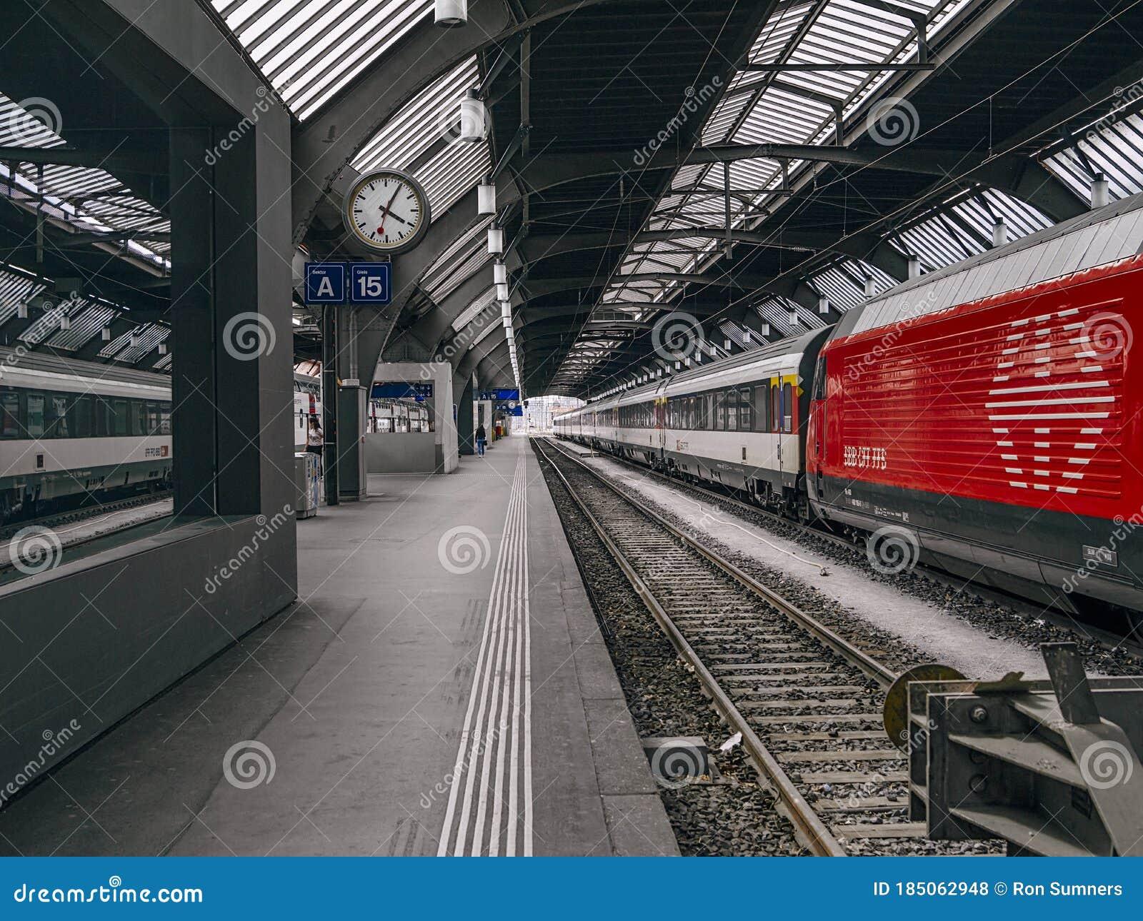WORLDS BUSIEST RAILWAY STATION!   Trains at Zurich HB