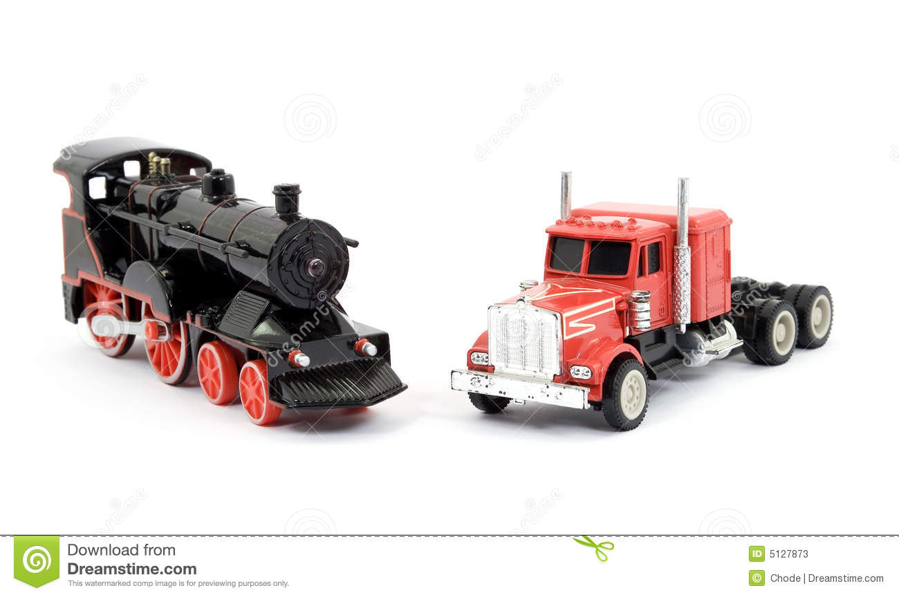 train and truck toys stock photos image 5127873. Black Bedroom Furniture Sets. Home Design Ideas