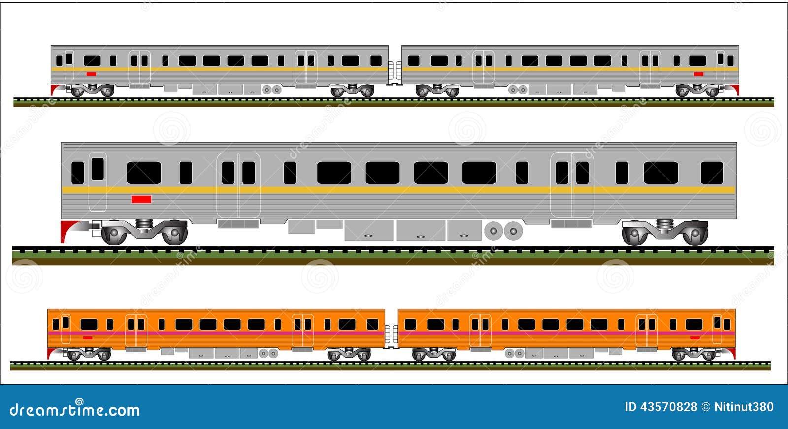 Train Vector Gray And Orange Railcar