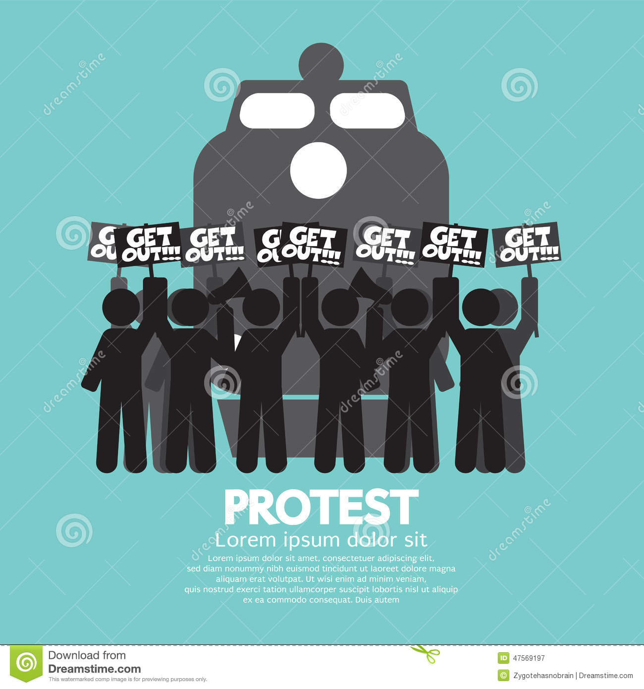 Train Workers Strike And Protest