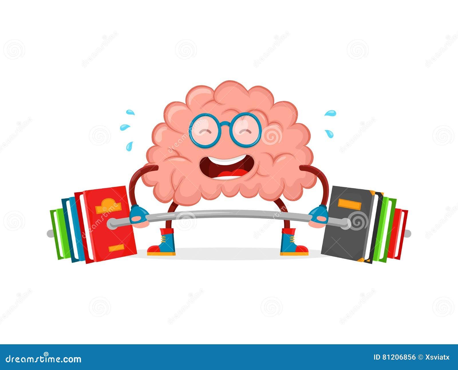 Train Your Brain. Brain Vector Cartoon Flat Illustration Fun ... for Smart Cartoon Brain  177nar