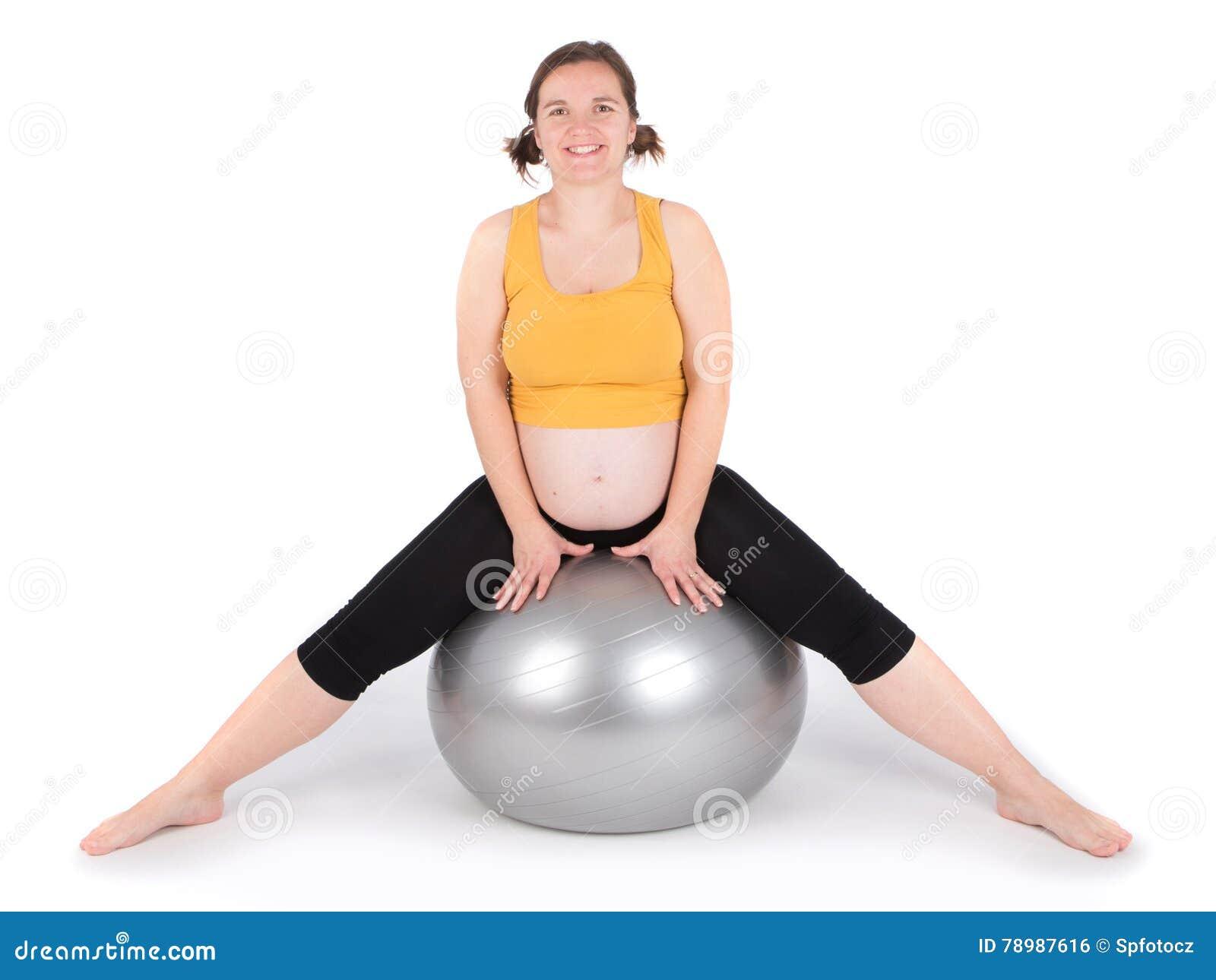 Trainieren der schwangeren Frau