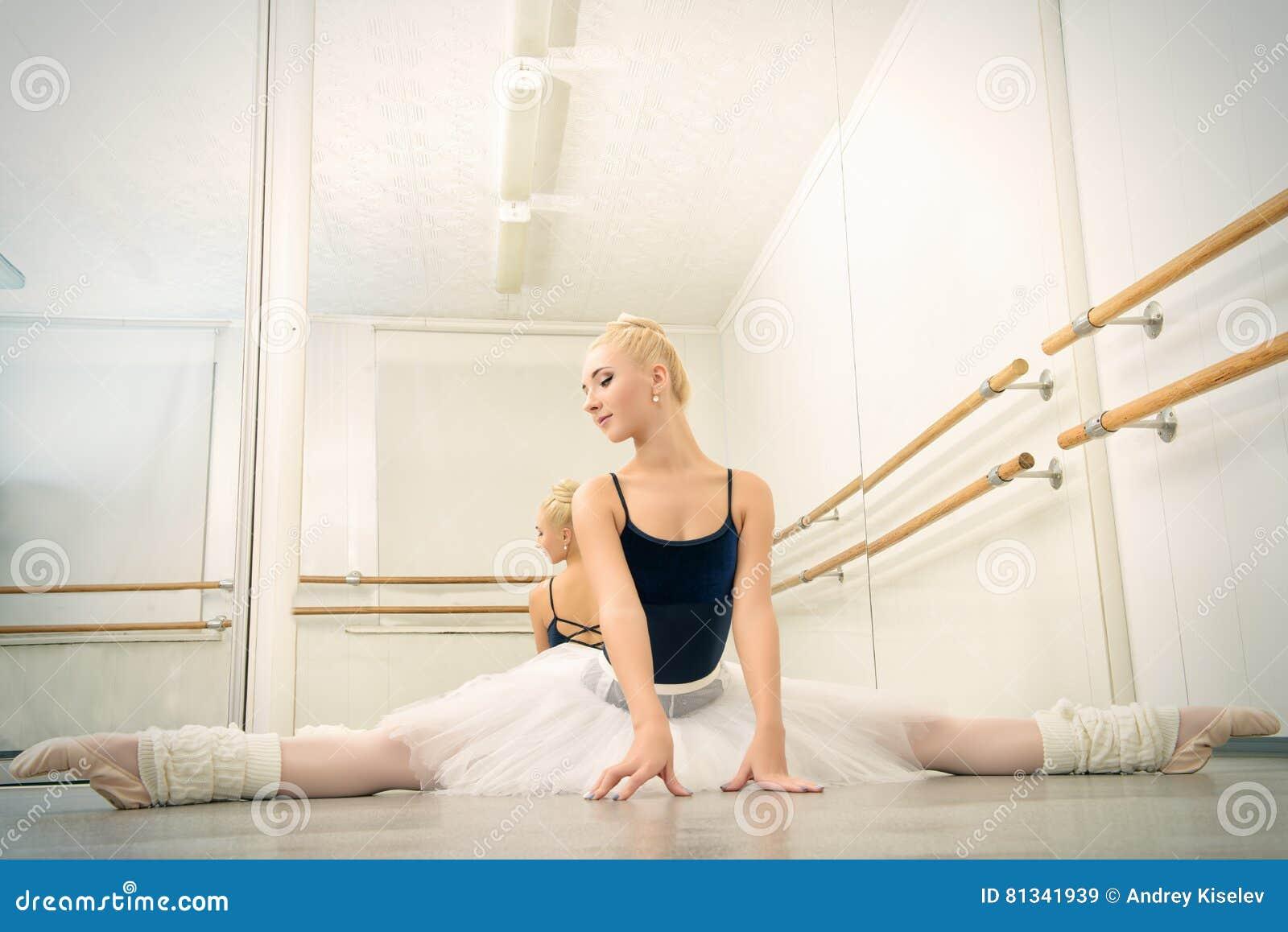 Training in ballet class