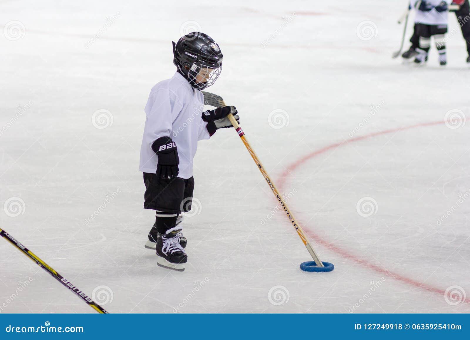 Training Of Children S Hockey Team In Sochi Editorial Stock Photo