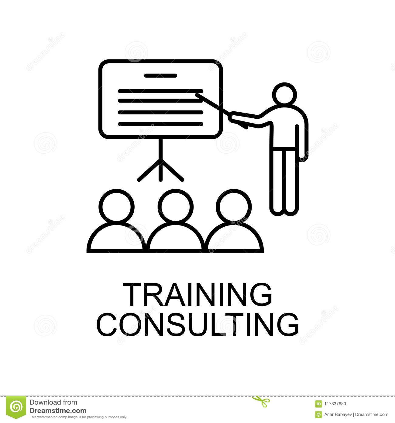 c9f769d6c989 Training consulting line icon. Element of human resources icon for mobile  concept and web apps