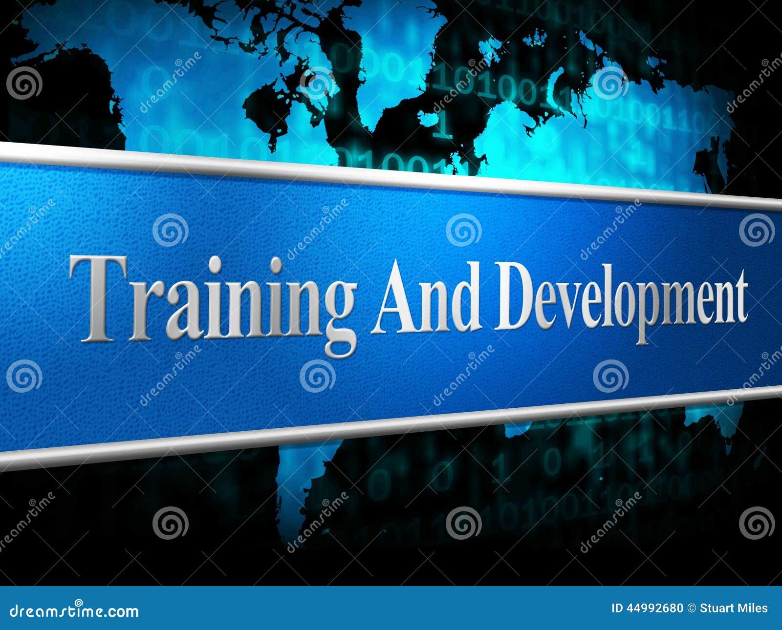 training and development stock illustration