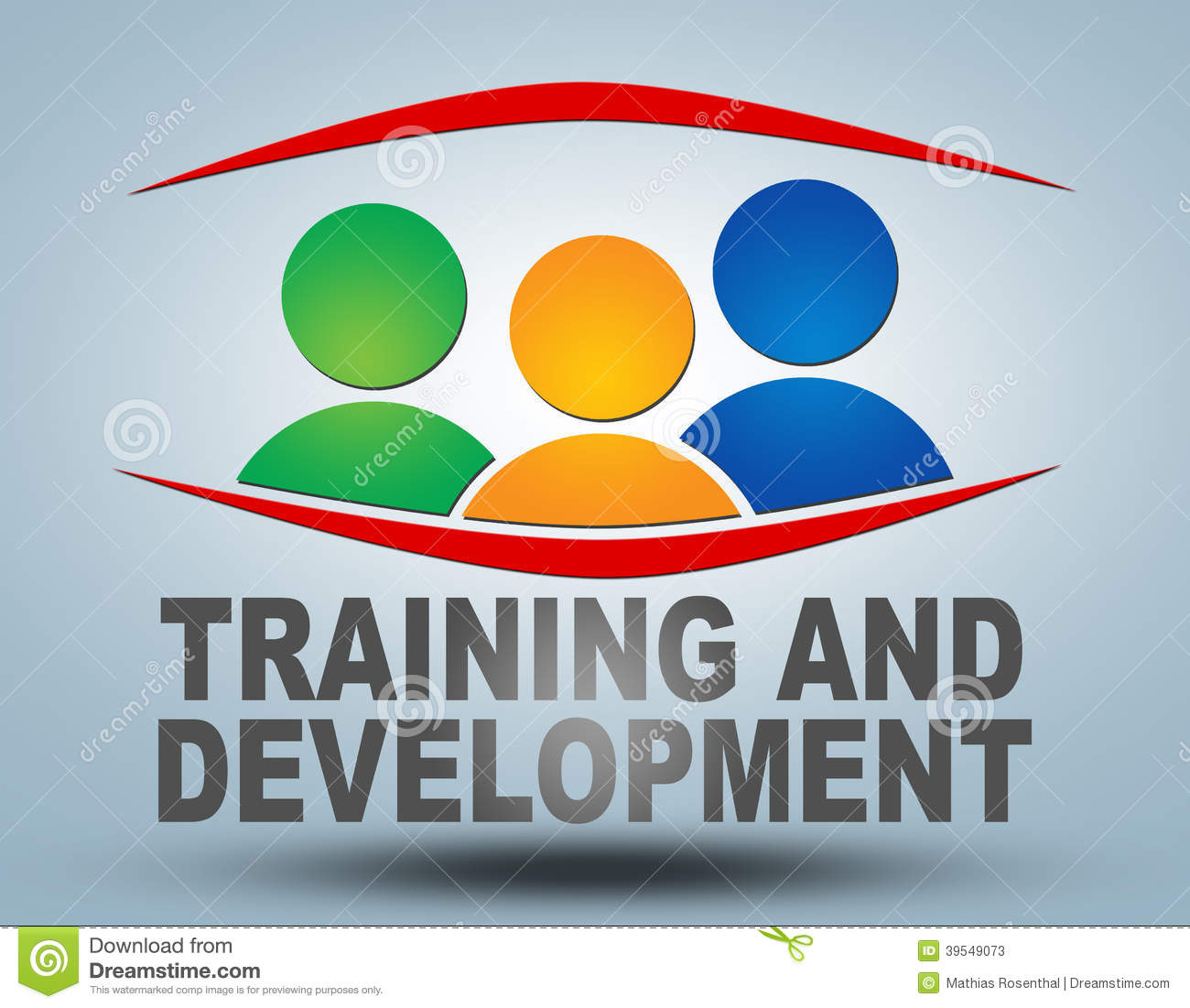 training and development stock illustration image 39549073