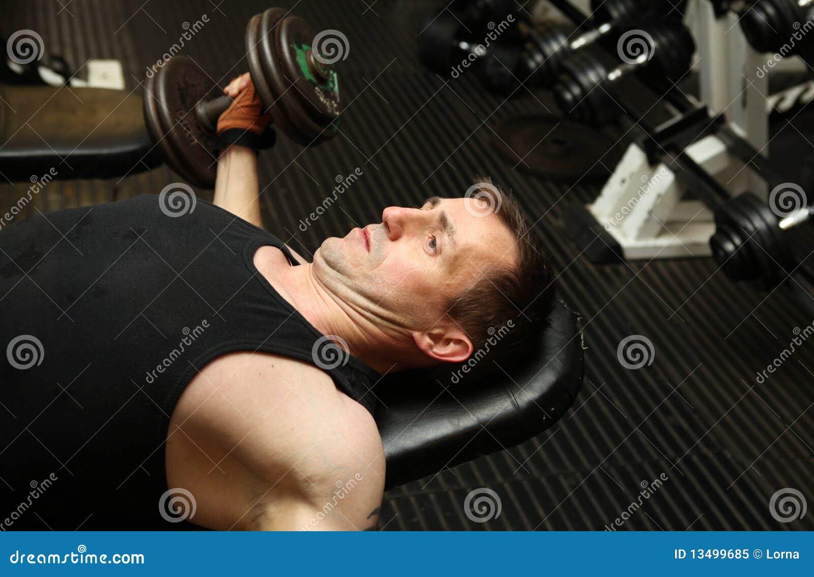 Training dumbbbells gym pecks