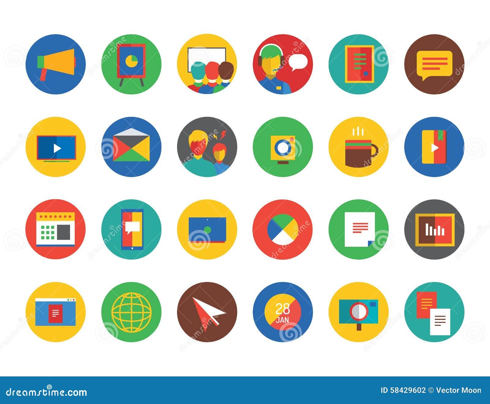 Training Icon Set. Webinar And Business Symbols Stock ...