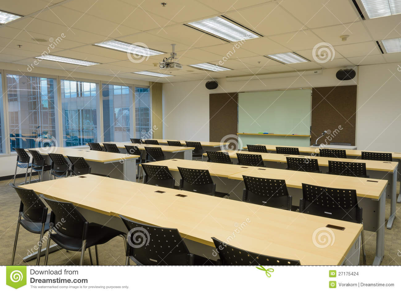 Training Room In Office Building Stock Images Image