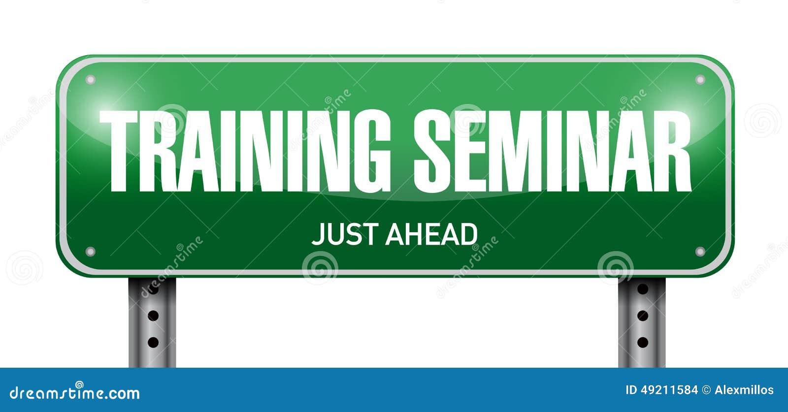 Training Seminar Road Sign Illustration Stock Photo ...