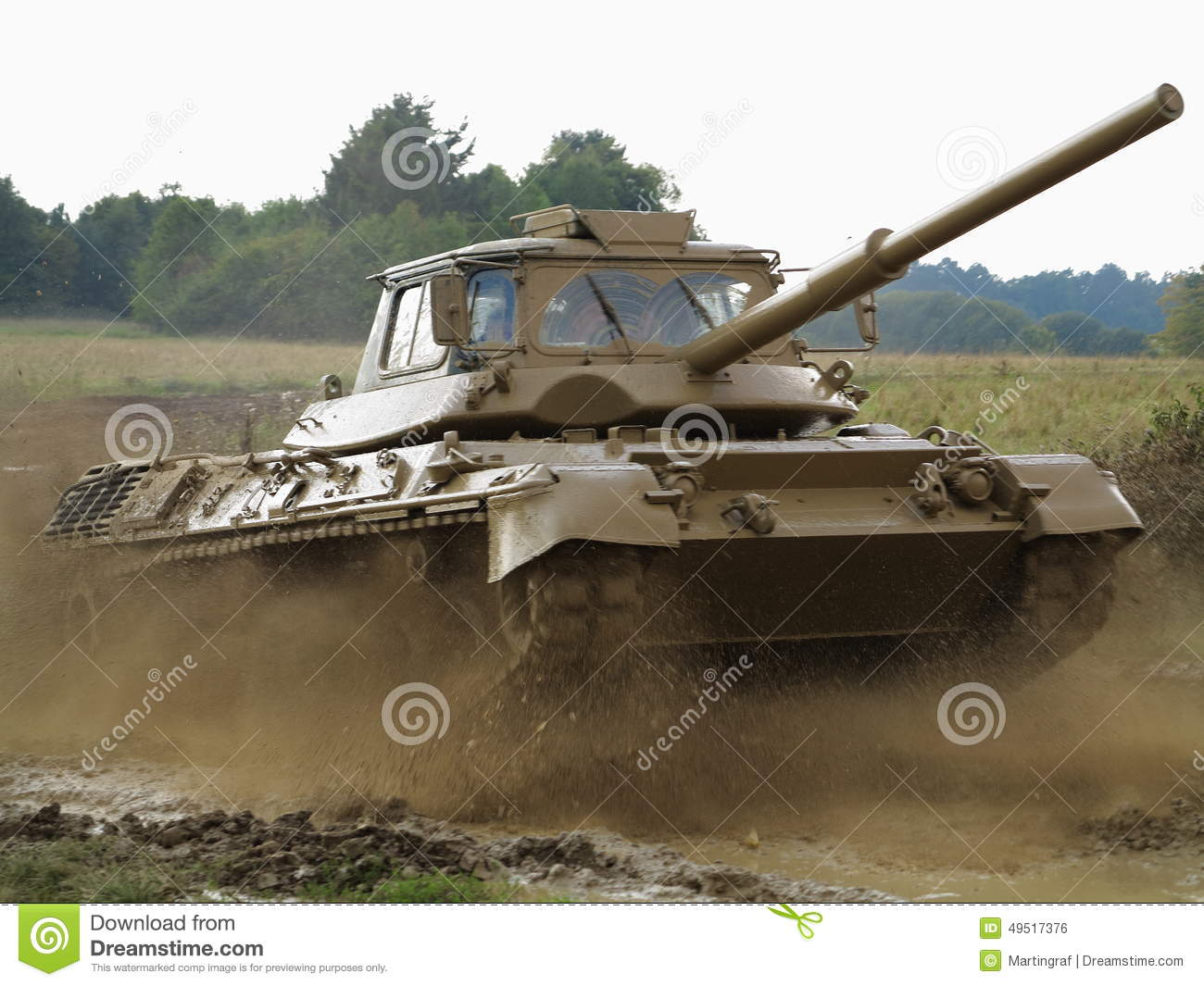 4e76a75dd2b6ac Training tank in action stock photo. Image of battle - 49517376