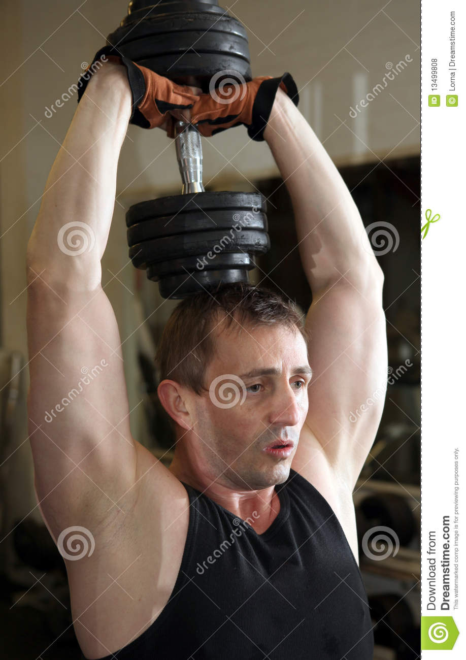 Training triceps weights dumbbell