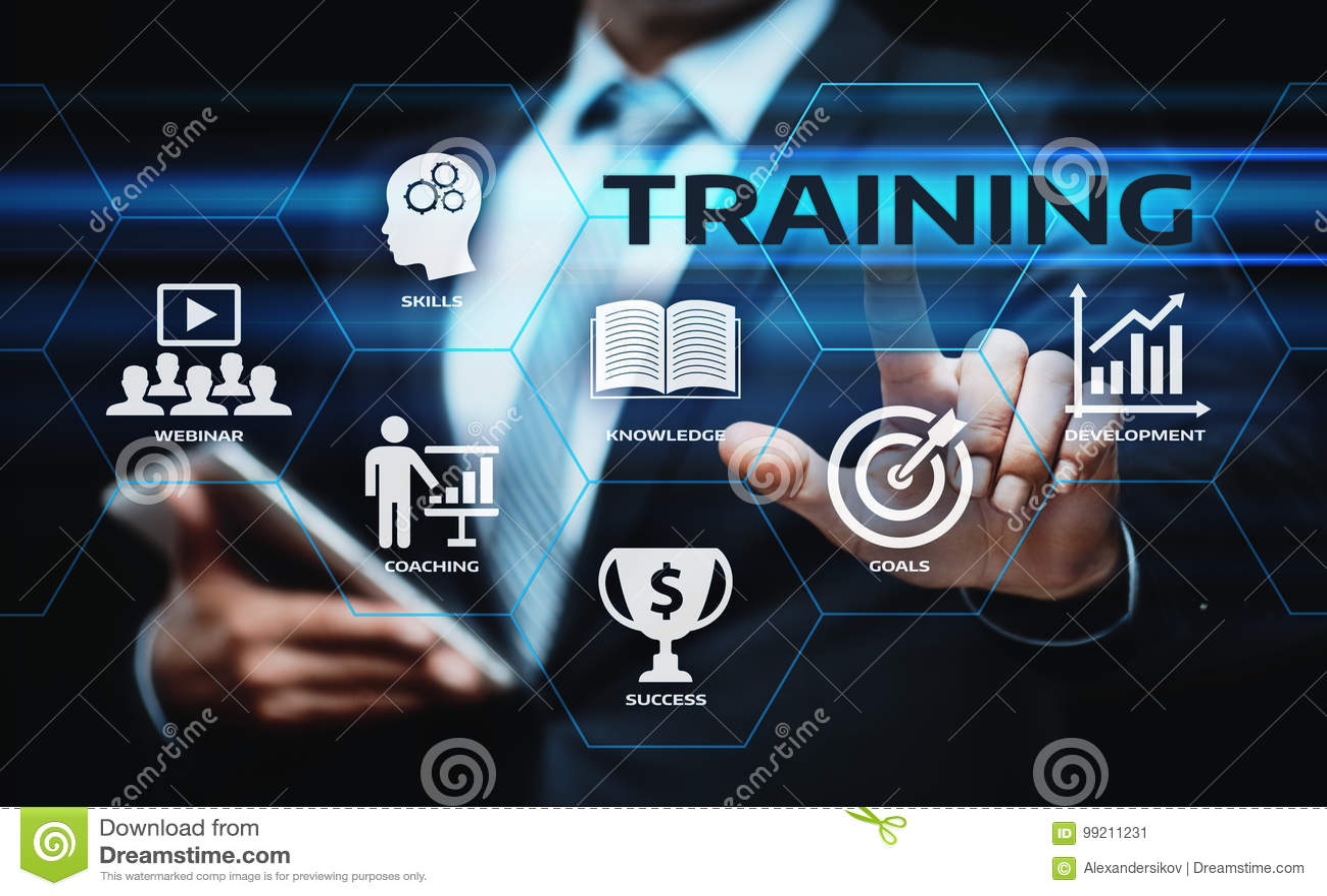 Training Webinar-E-Learning-Fähigkeits-Geschäfts-Internet-Technologie-Konzept