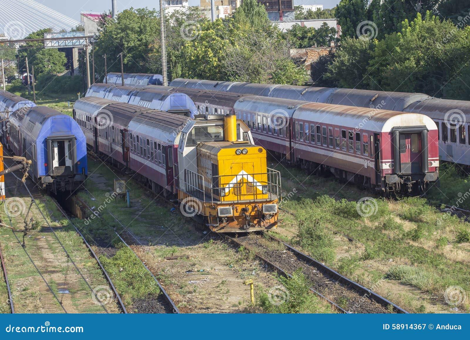 Trains de Roumain dans le dépôt