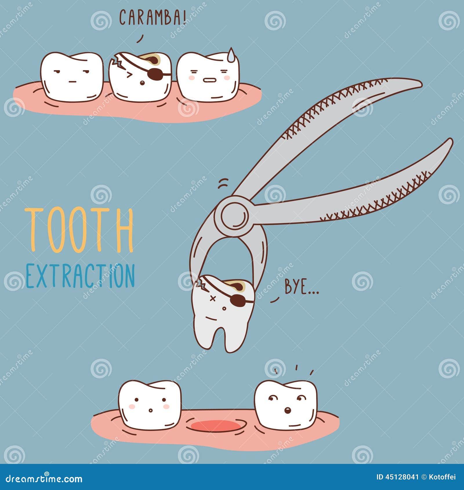 Traitement et soin de dents Collection dentaire de