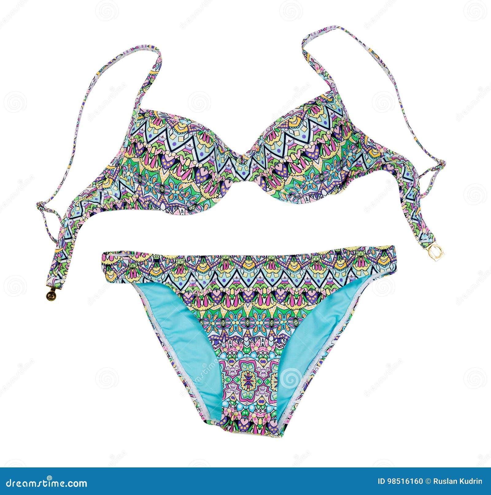 32c4c693 Traje De Baño Para Mujer De Moda Colorido Aislante Foto de archivo ...
