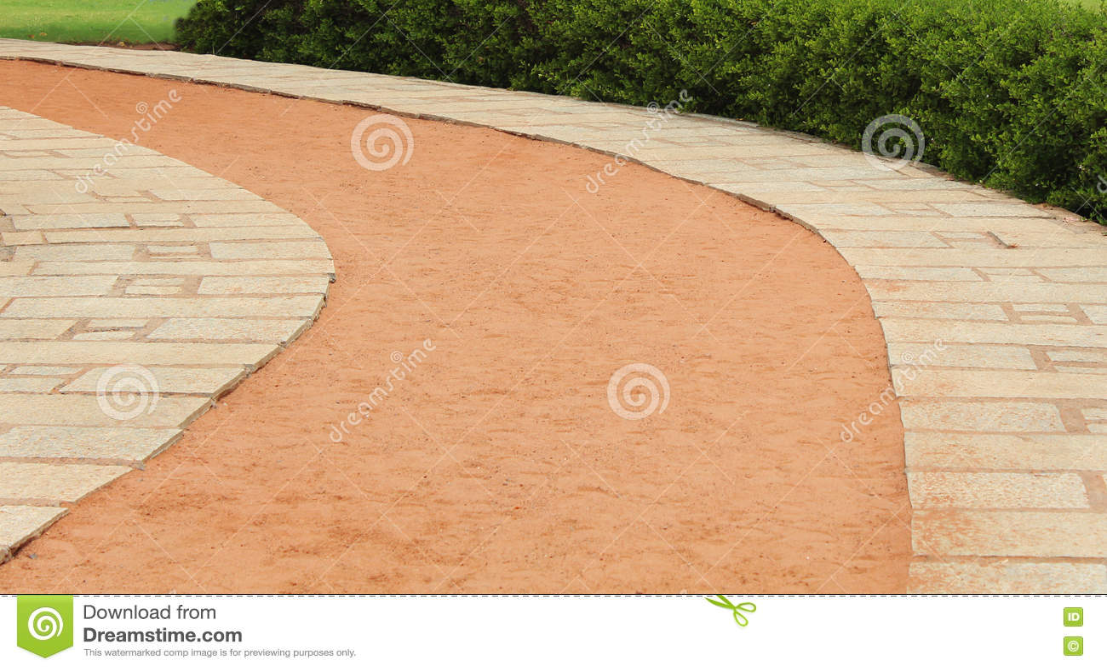 Trajeto da pedra da curva da praia
