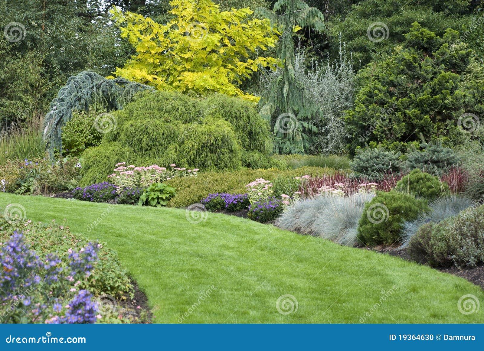 Trajeto inglês do jardim