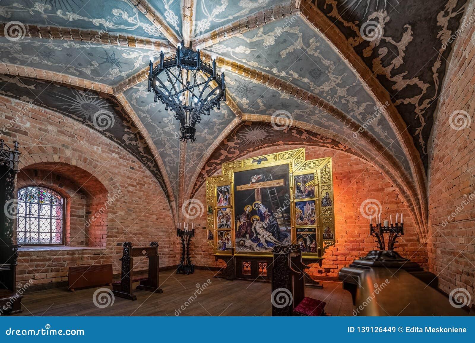 Trakai Island Castle restored Chapel in Lithuania