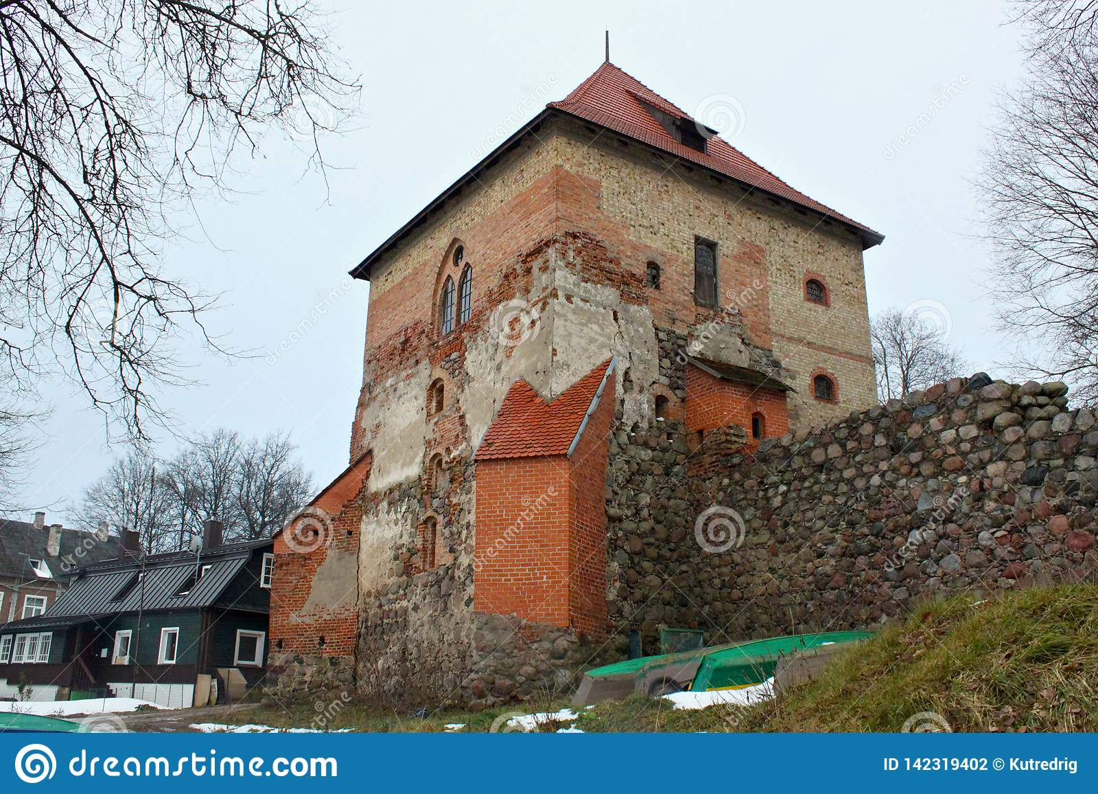 TRAKAI, LITHUANIA - JANUARY 02, 2013: Trakai Peninsula Castle.