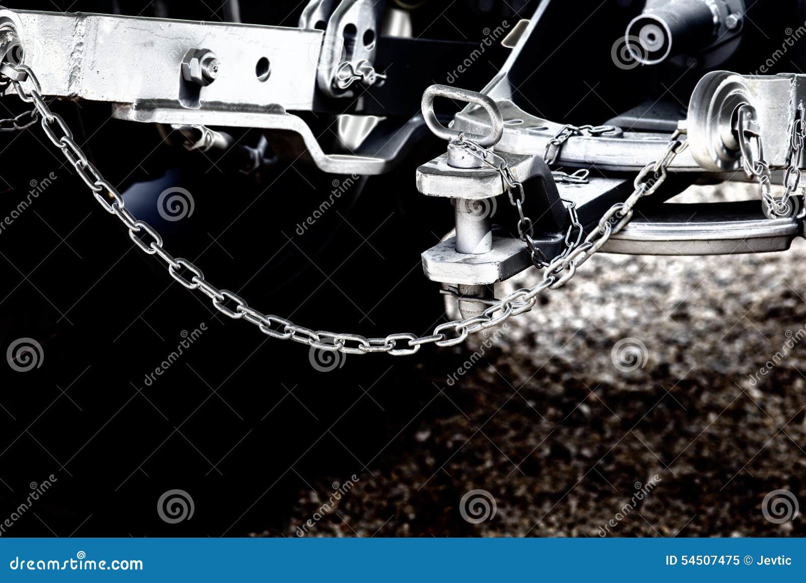 Traktorproblem und -Anhängerkupplung