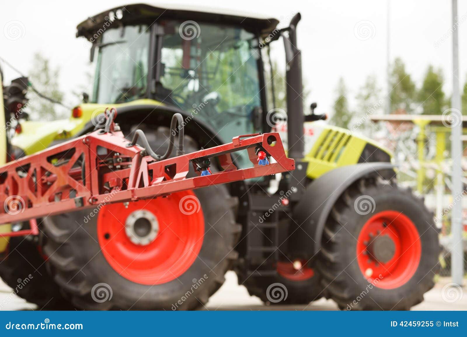 Traktorsprüher-Düsennahaufnahme