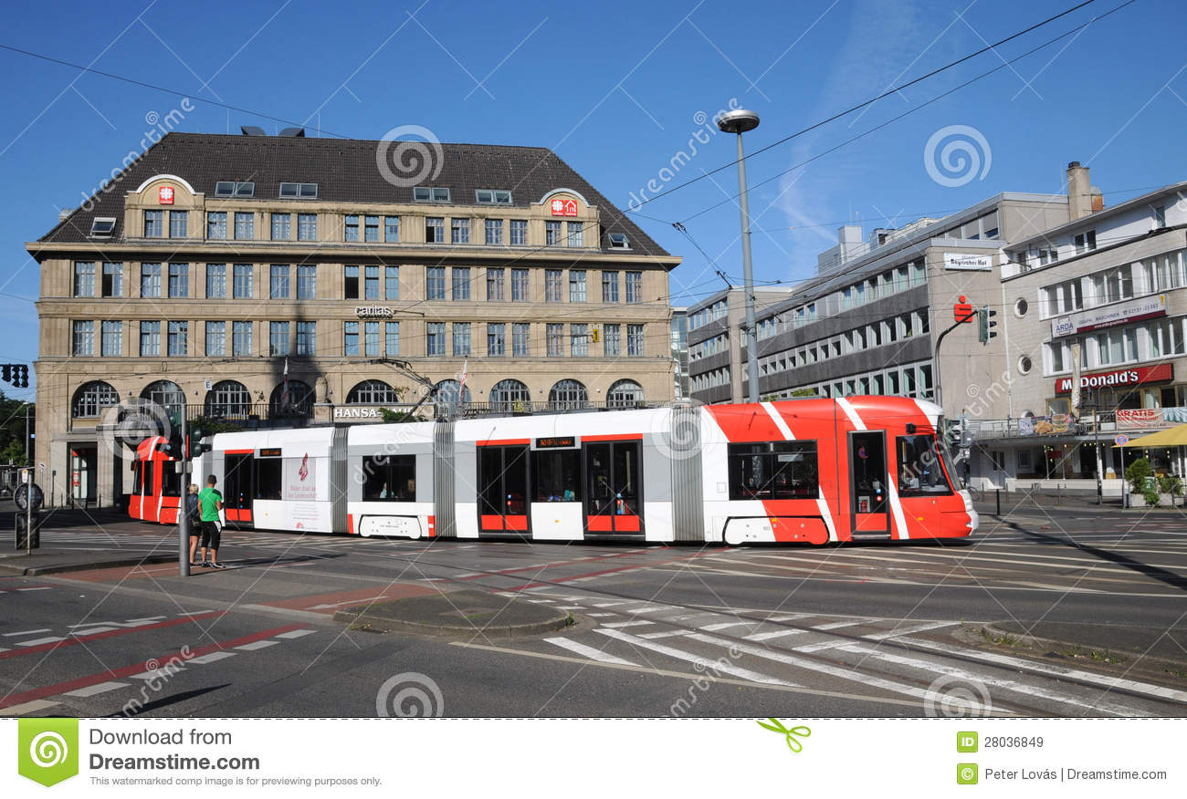 tram bombardier in krefeld editorial stock image image 28036849. Black Bedroom Furniture Sets. Home Design Ideas