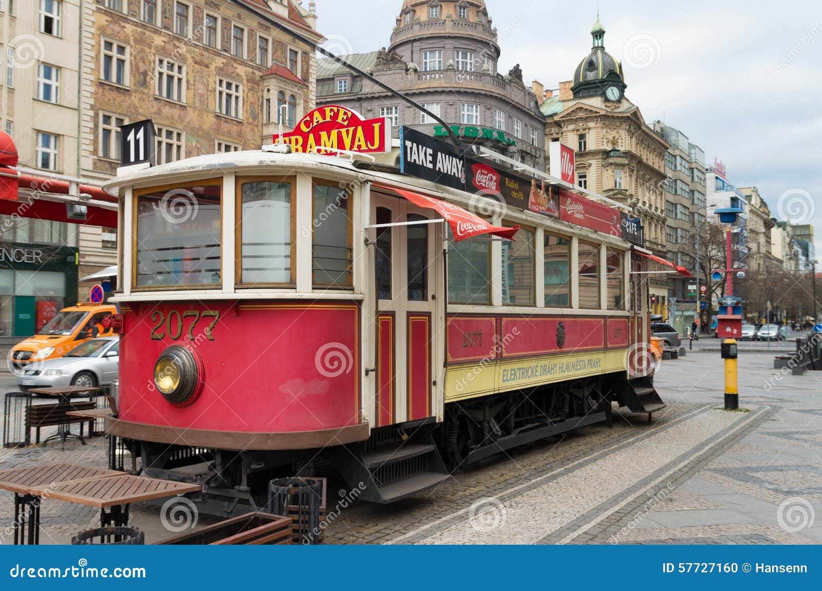old tram prague street - photo #16