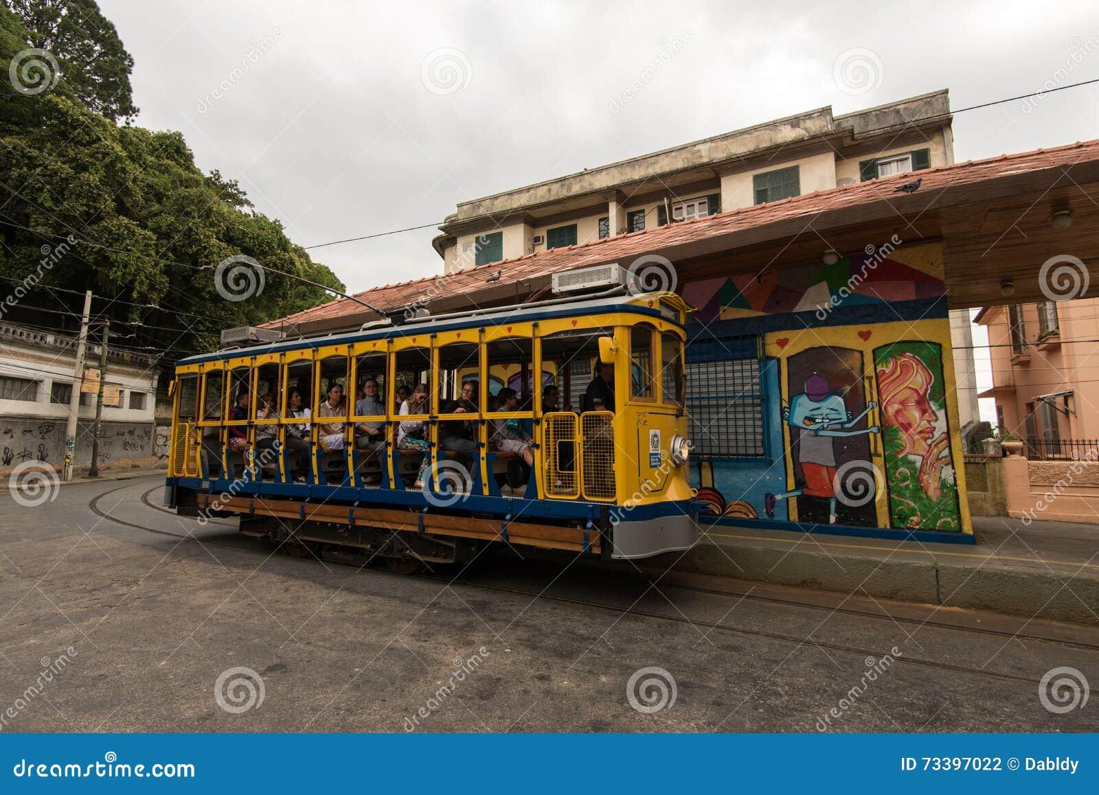 Tram de Classim de Santa Teresa en Rio de Janeiro, Brésil