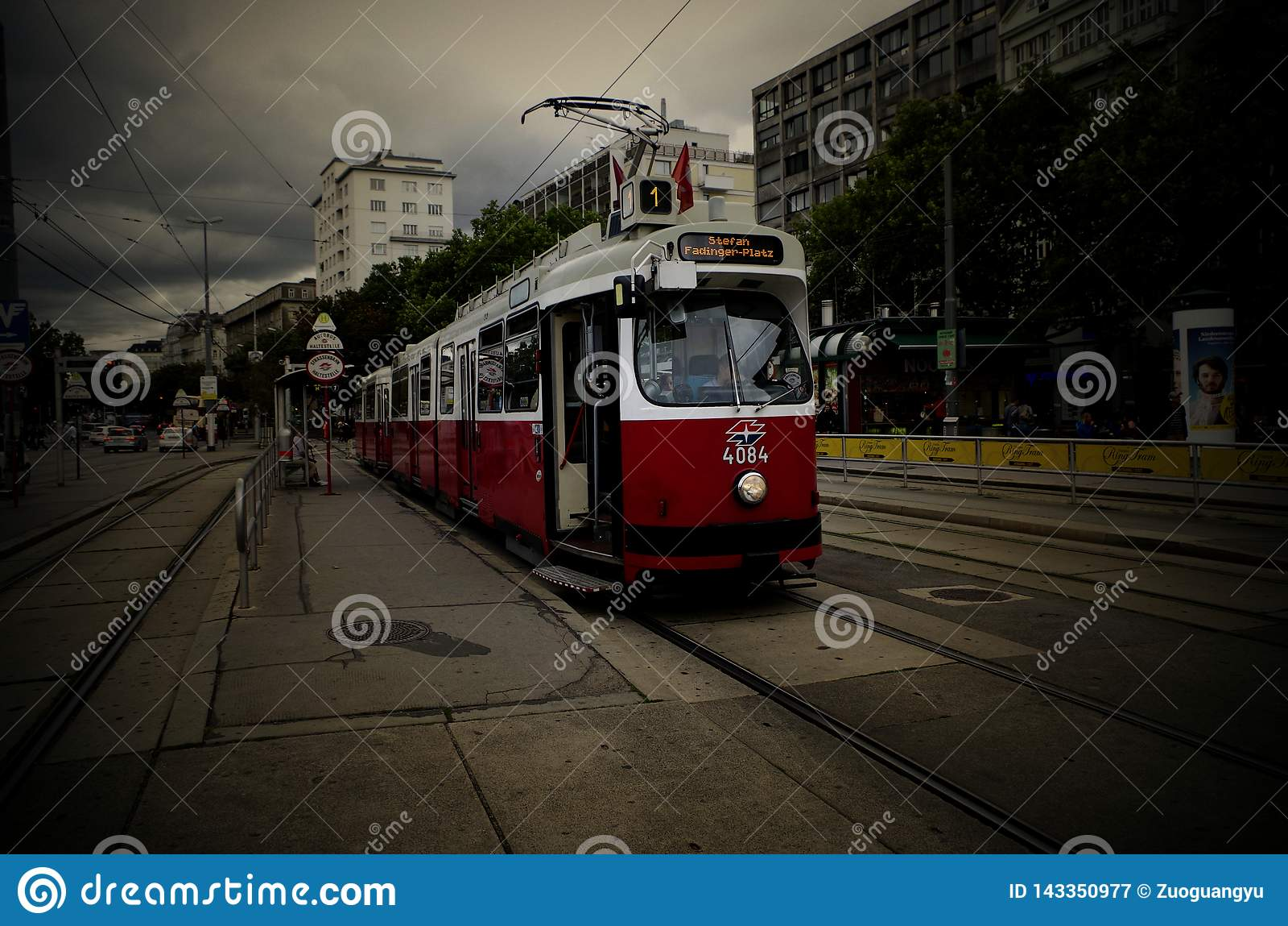 Tram di Vienna Austria luglio