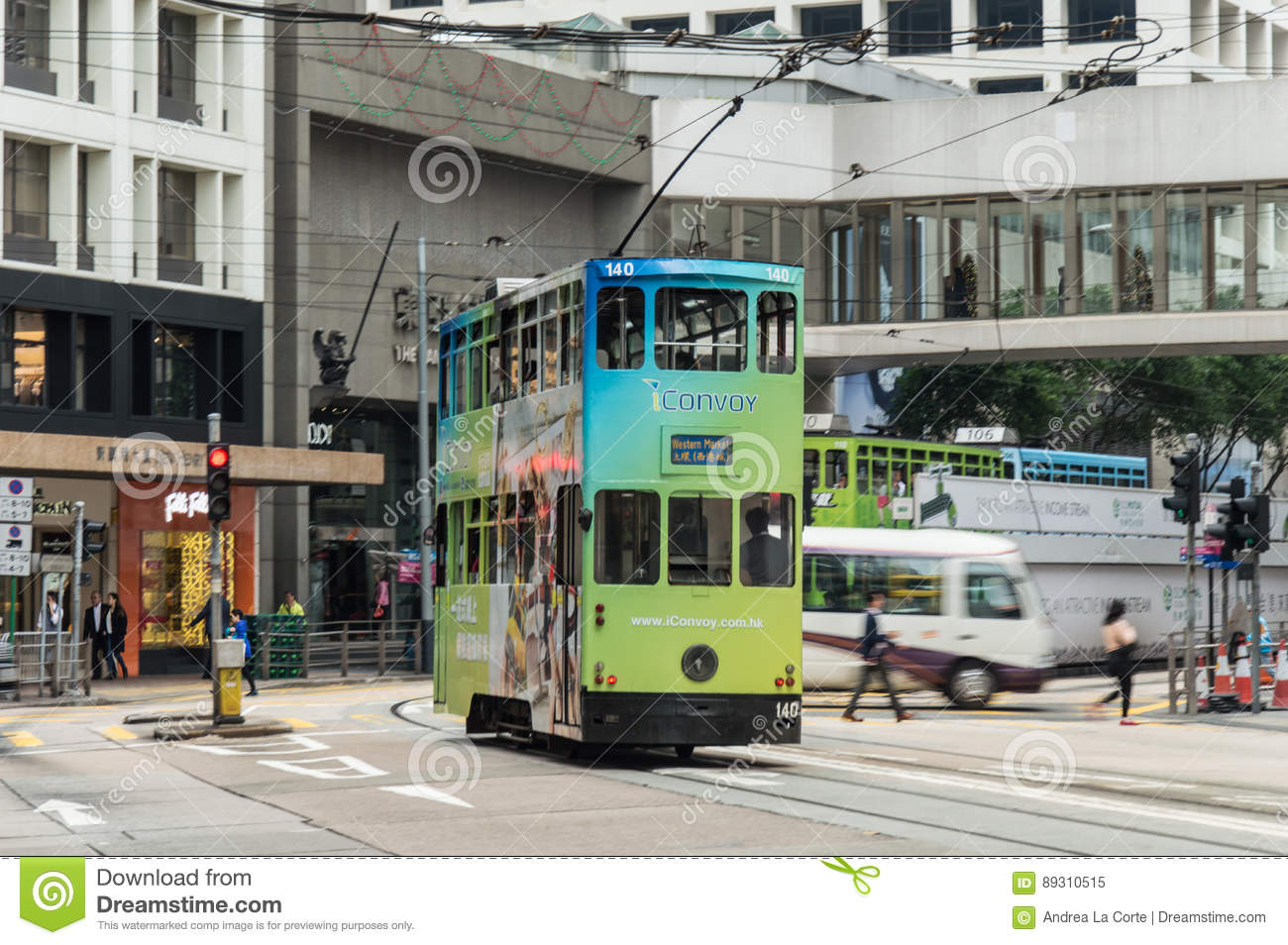 Tram in Hong Kong Island