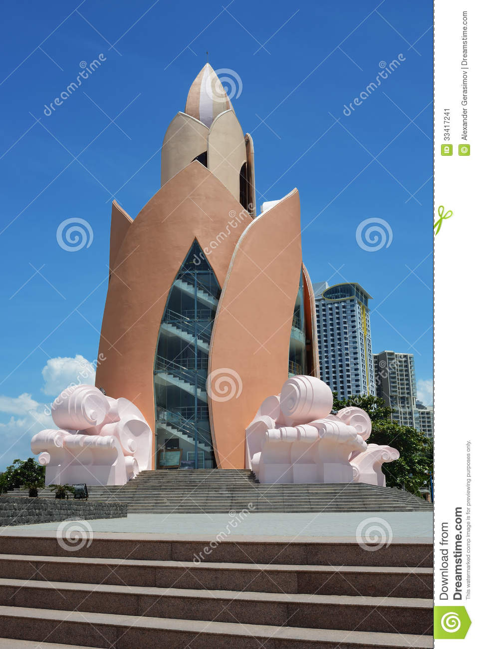 Tram huong lotus flower tower in nha trang stock image image of download comp izmirmasajfo