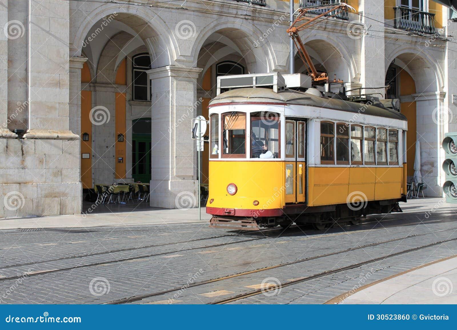 Tram in Lissabon, Portugal