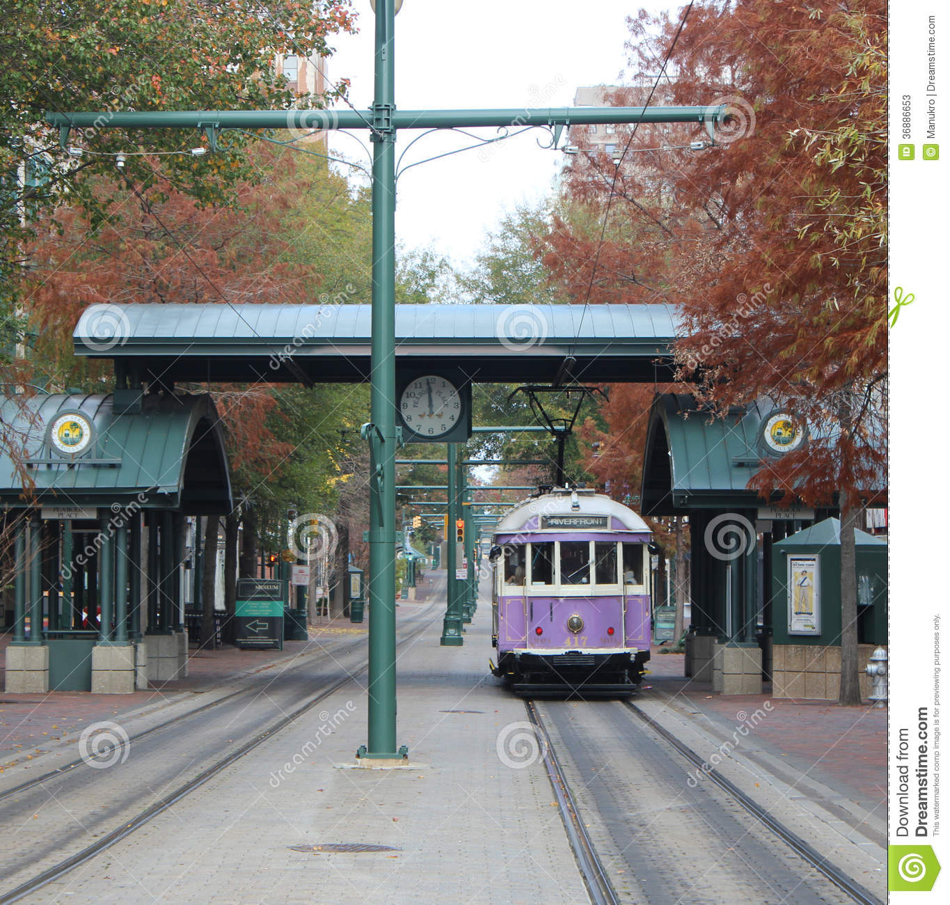 Download Tram a Memphis fotografia stock editoriale. Immagine di tram - 36886653