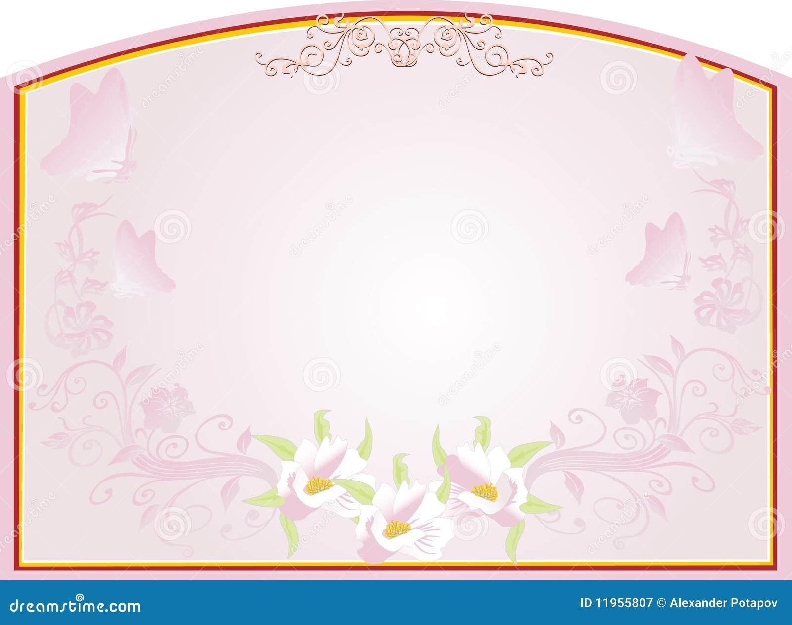 Trame abstraite d or avec la conception florale rose