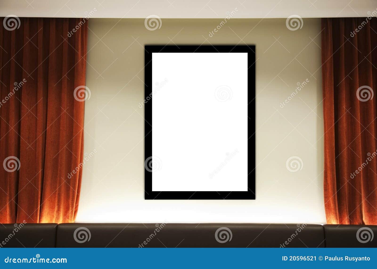 Trame Blanc Avec Le Rideau Orange Image Stock Image Du Fond Trame