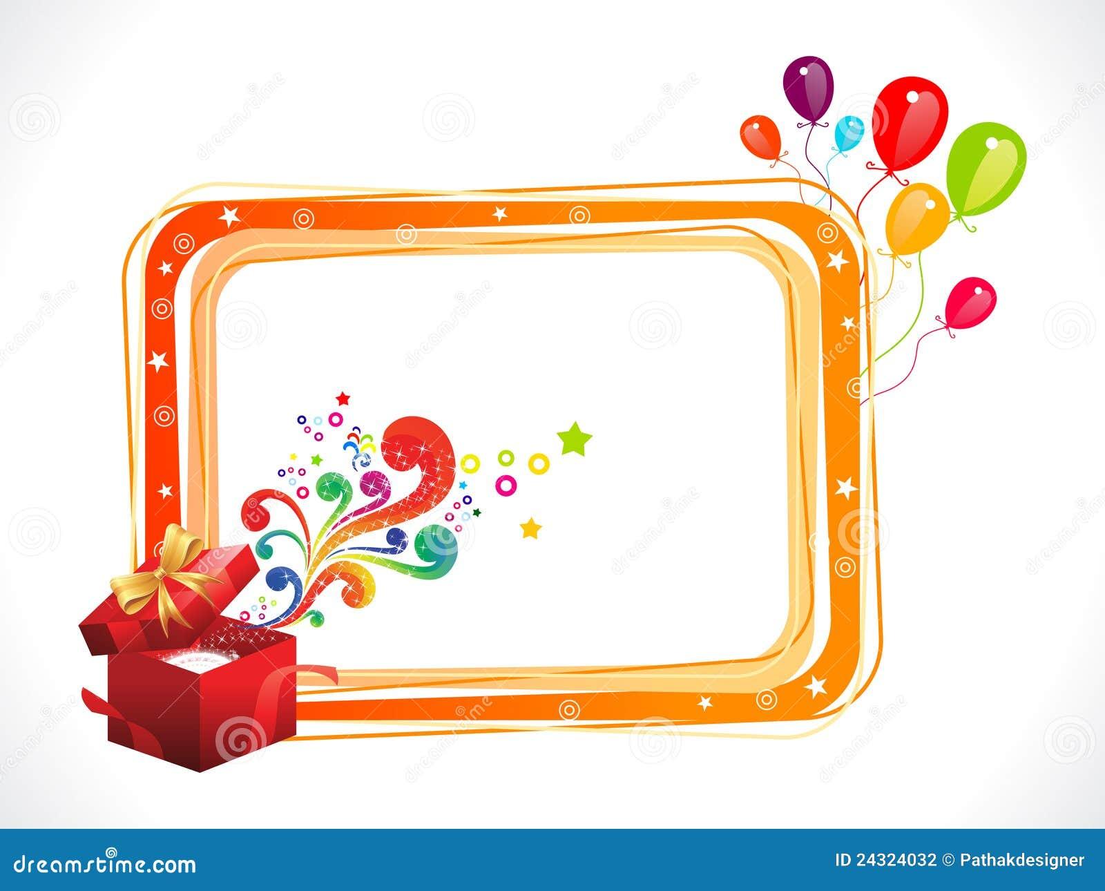 Cadre Anniversaire trame colorée abstraite d'anniversaire avec le cadre magique