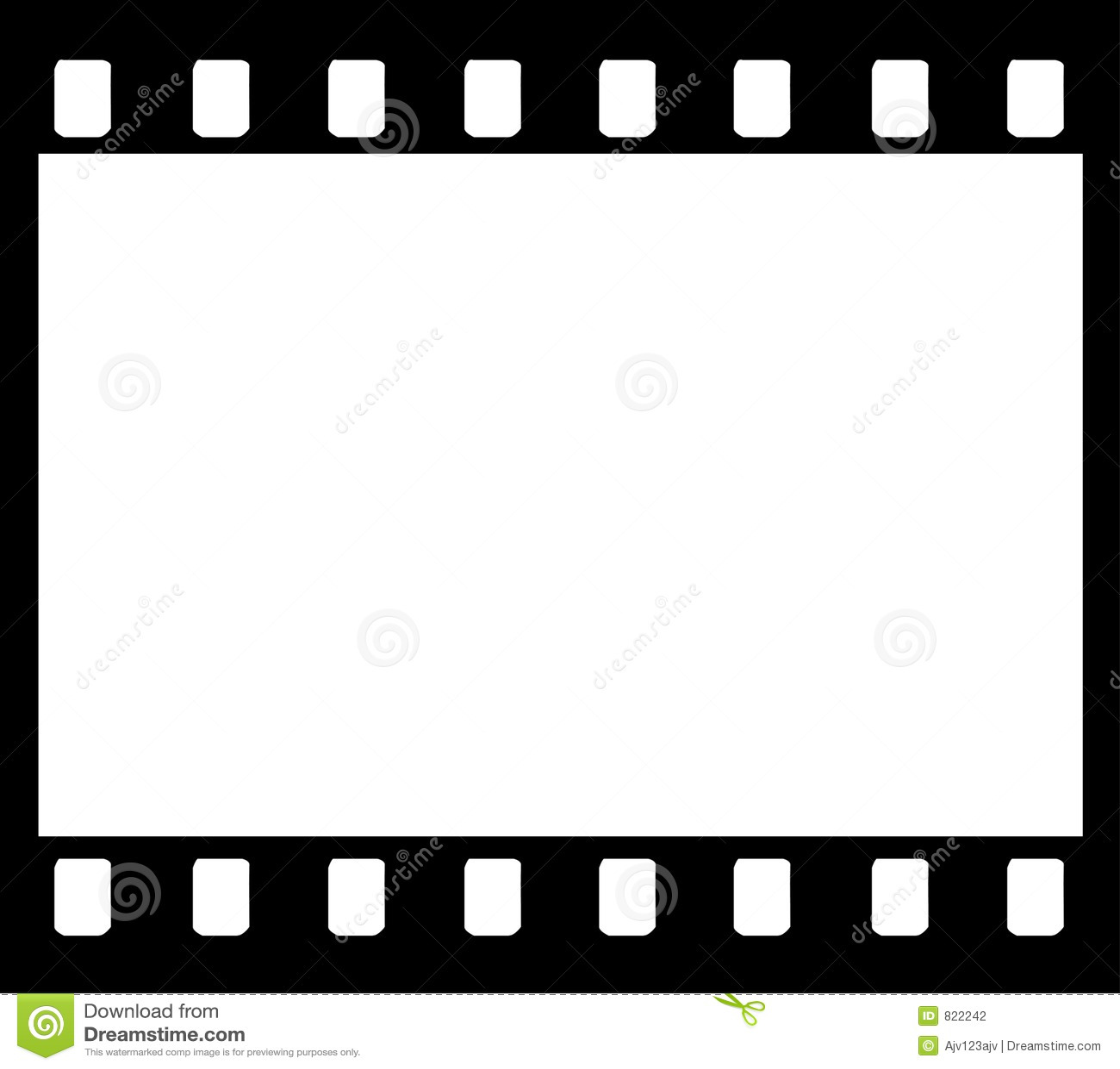 Trame de bande de film de 35mm