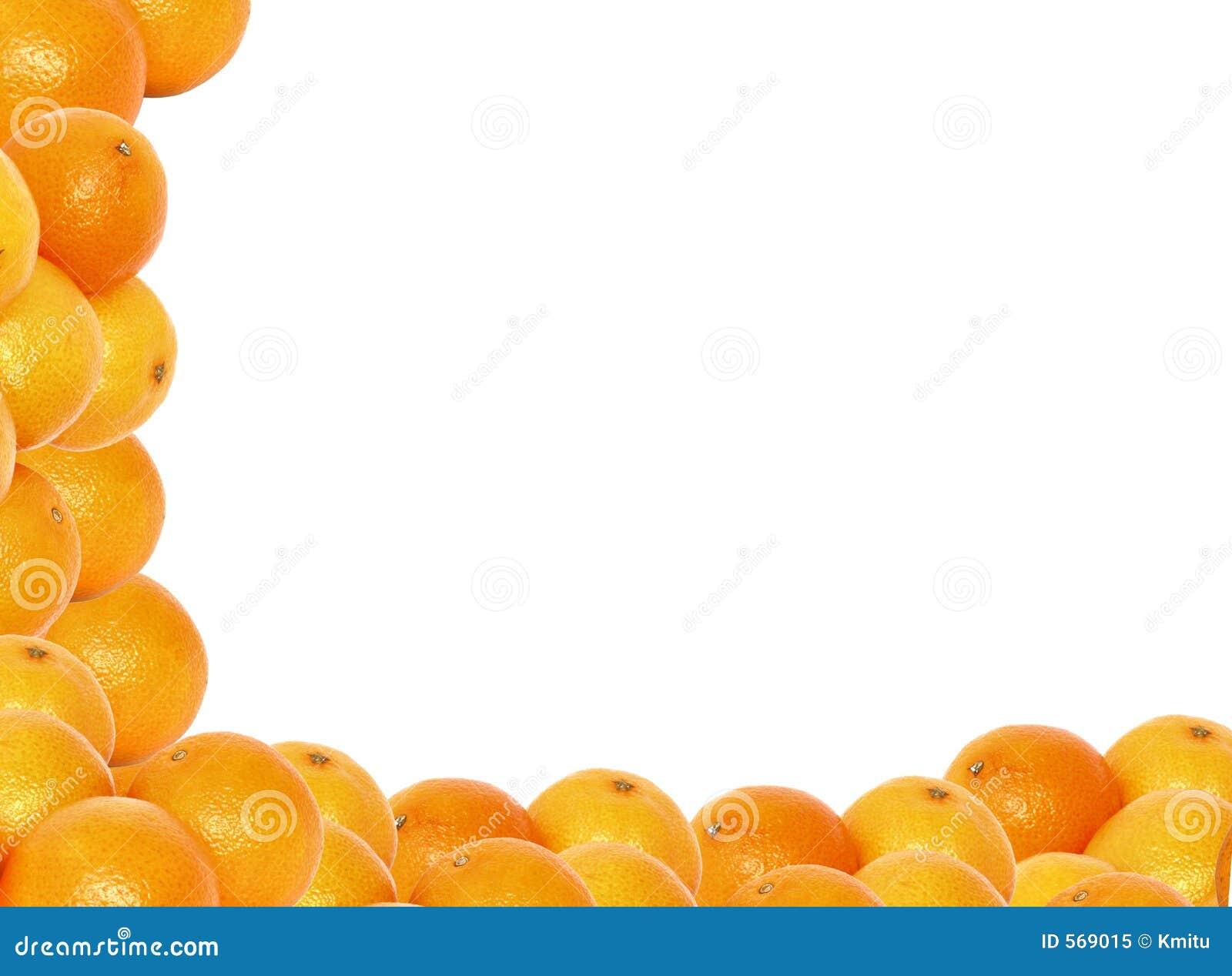 Trame de haute résolution de mandarine
